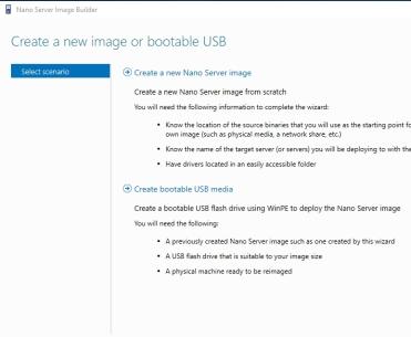 Nano Server Image Builder (Create Nano server image for