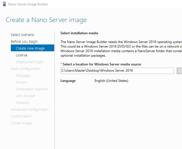Nano Server Image Builder (Create Nano server image for physical