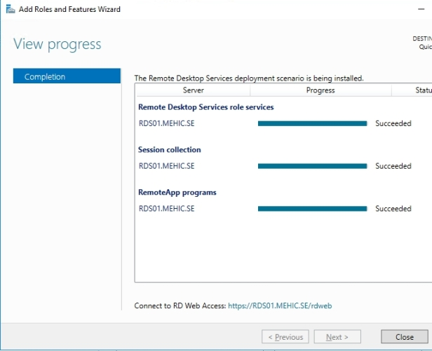 How To Install Remote Desktop Services 2016 Quick Start Deployment