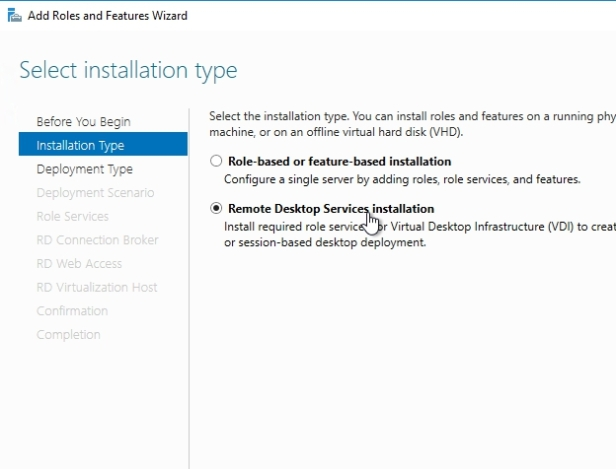 How to Install Remote Desktop Services 2016, Quick Start Deployment