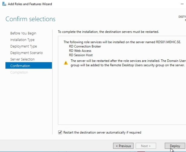 How to Install Remote Desktop Services 2016, Quick Start