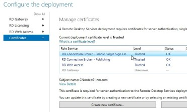 Remote Desktop Services 2016, Standard Deployment – Part 4 – RD Web