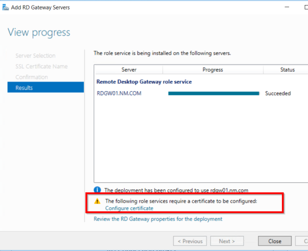 Remote Desktop Services 2016, Standard Deployment – Part 8