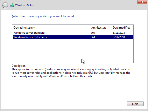2018-03-21 09_38_28-WINDOWSSERVER2019 on HYPER - Virtual Machine Connection