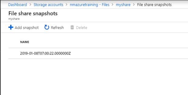 2019-01-08 08_00_57-file share snapshots - microsoft azure