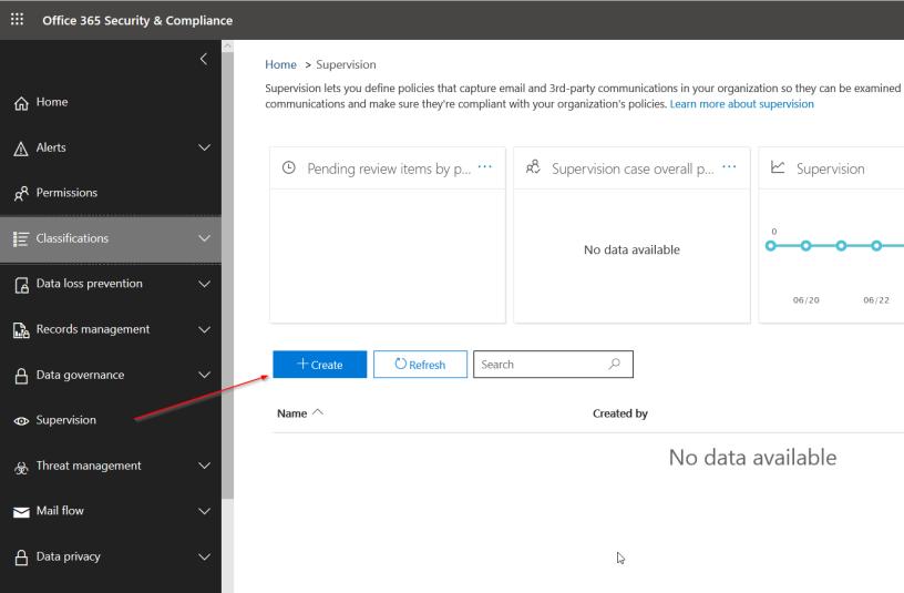 Office 365 – Supervision Policies – Nedim's IT CORNER