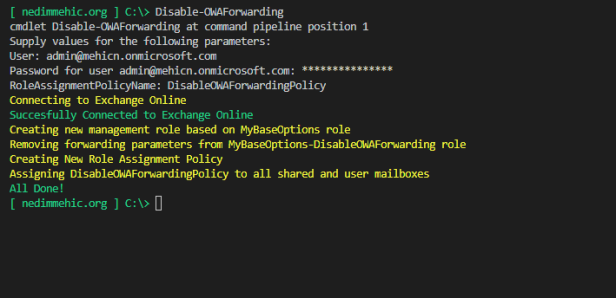 2019-08-08 16_11_52-Disable-OWAForwarding.ps1 - Visual Studio Code [Administrator]